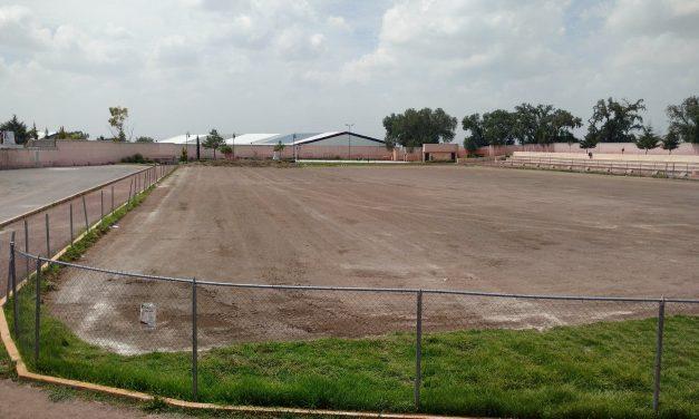 Cancha de futbol de Tolcayuca estará sin funcionar