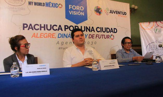Anuncian foro Pachuca ciudad alegre y dinámica