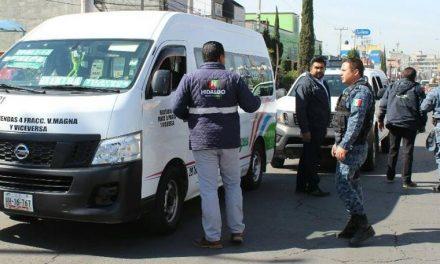 Sancionan a 19 unidades de transporte en Tizayuca