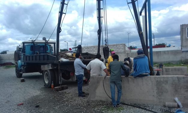 Cambian equipo de bombeo para prevenir desabasto de agua en Tolcayuca