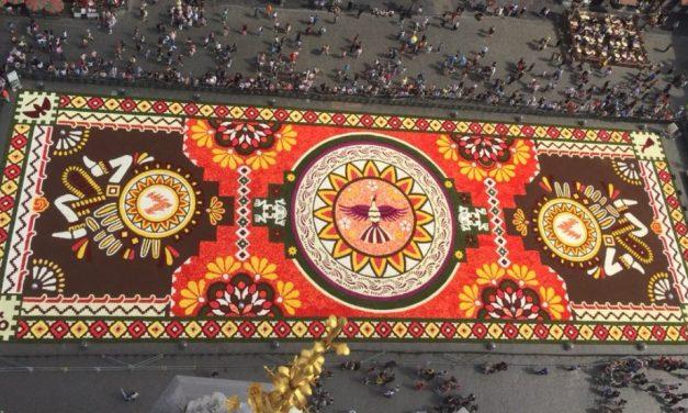 La Grand-Place de Bruselas se viste de México