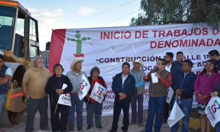 Inicia construcción de calle Ciprés en Acayuca