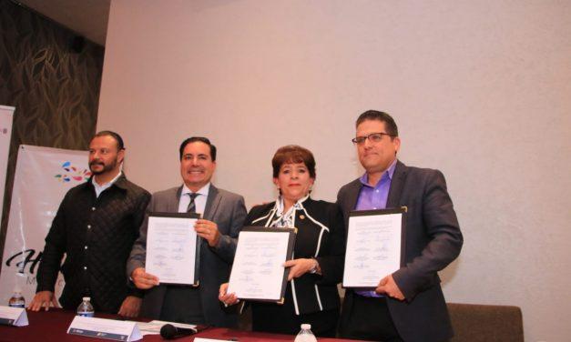Firman convenio para coadyuvar con promoción del Turismo