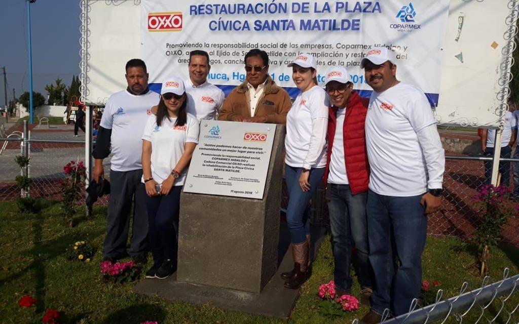 Coparmex coadyuva a restaurar áreas públicas en Santa Matilde