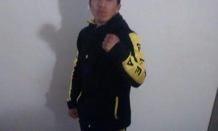 Diego Montalvo, boxeador en la final de Festival Olímpico