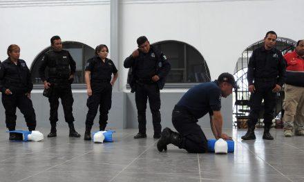 Policías Municipales reciben curso de Primeros Auxilios