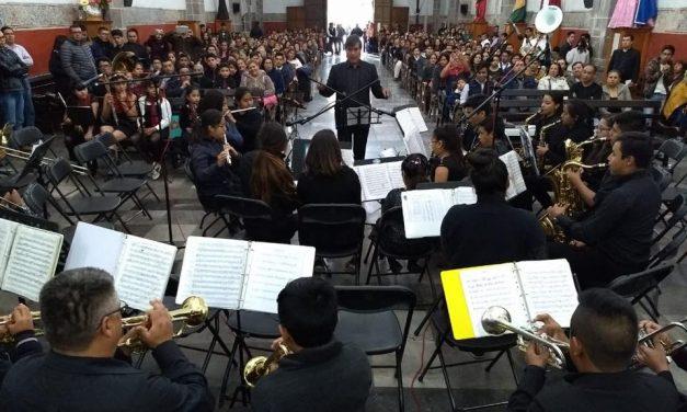 Concierto de bandas sinfónicas en el Gota de Plata