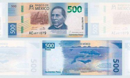 Presentan nuevo billete de 500 pesos