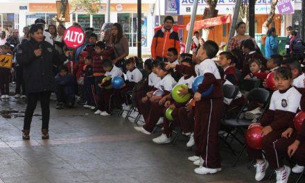 Crean conciencia vial en niños de Tulancingo