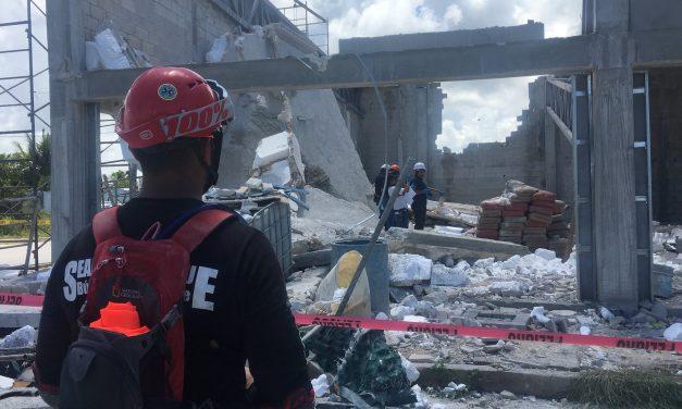 Derrumbe en Puerto Morelos, Quintana Roo