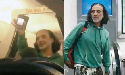 Alejandro Fernández causa pánico en avión