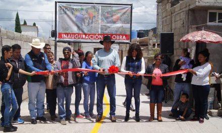 Inauguran Cerrada de Niños Héroes en Tepeapulco