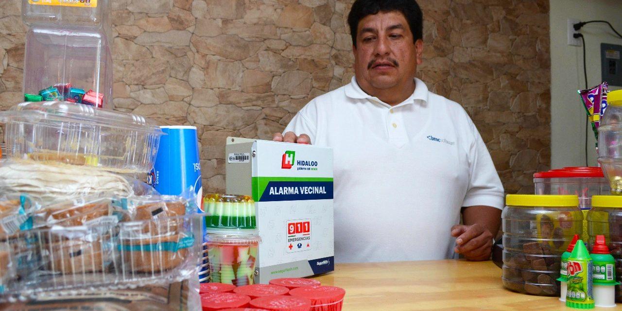 Gobierno estatal otorgó 3 mil alarmas vecinales en Tulancingo