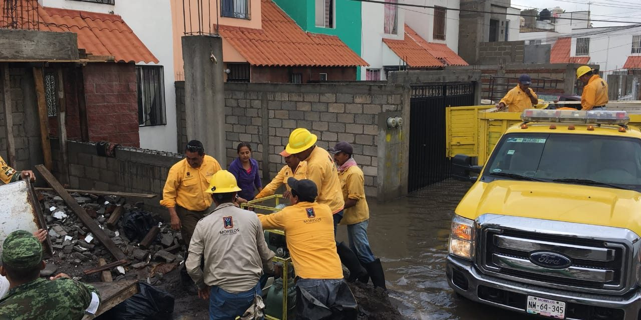 En Jojutla, Morelos, 8 colonias inundadas