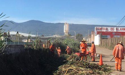 Limpian dren de San Francisco Huatengo para prevenir desastres