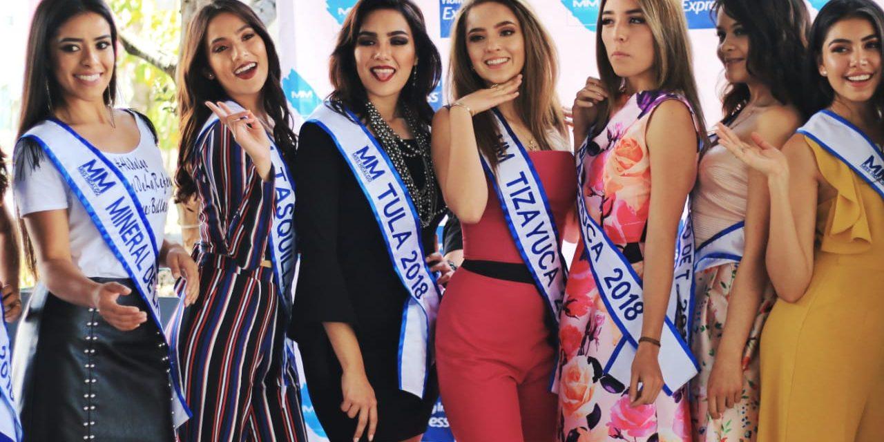 Presentan a las aspirantes al título de Miss Hidalgo