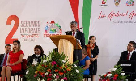 Alcalde de Tizayuca rinde segundo informe