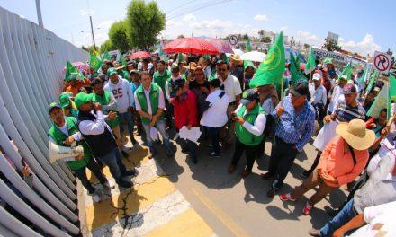 Integrantes de la UNTA piden destitución del alcalde de Epazoyucan