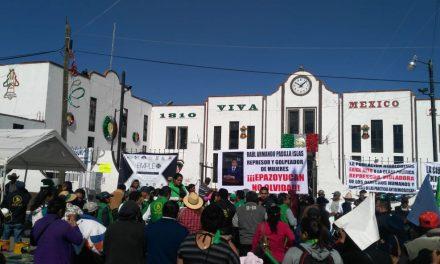 Integrantes de la UNTA se manifiestan contra alcalde de Epazoyucan