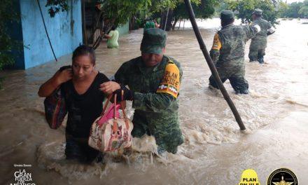 Álamo Veracruz inundado por lluvias y desbordamiento de arroyo
