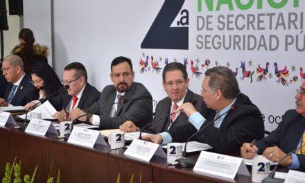 En Hidalgo, realizan reunión de seguridad de la zona centro del país