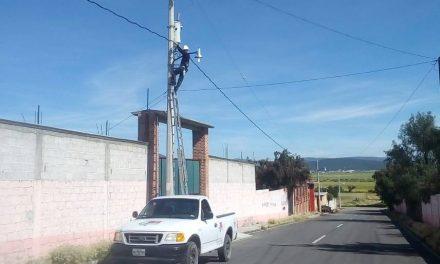Alumbrado público acapara gran parte del presupuesto de Epazoyucan por altos costos de la CFE