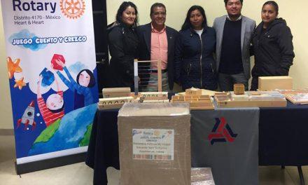 Club Rotario entrega apoyos para niños con rezago educativo