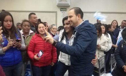 MArko Cortés promete a militantes hidalguenses no buscar cargo de elección popular