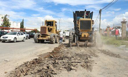 Inicia modernización del bulevar de acceso a Huitzila en Tizayuca