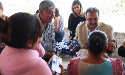 Ayuntamiento de Tizayuca y Fundación LALA donan leche a población vulnerable
