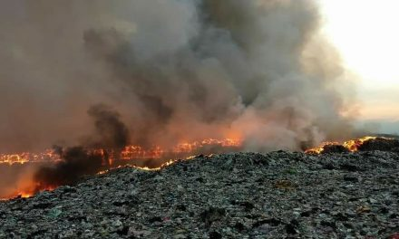 Presentan resultados de afectación por incendio de basurero en La Reforma