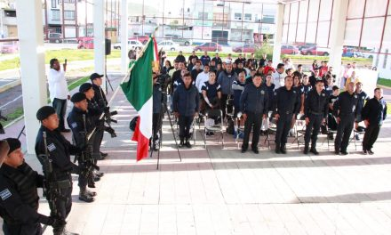 Elementos policíacos participan Prueba Deportiva «Por Nuestra Patria»