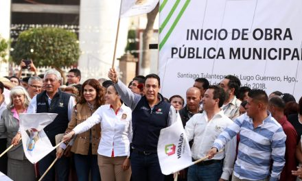 Gobierno estatal inicia obra en Santiago Tulantepec