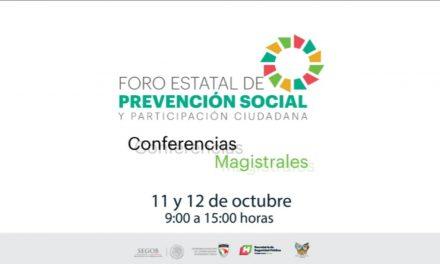 SSPH prepara Foro Estatal de Prevención Social y Participación Ciudadana.