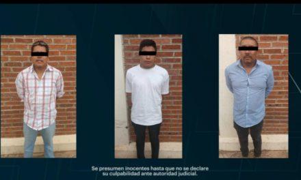 Detienen a tres sujetos con apoyo del sistema de videovigilancia