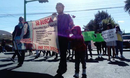Familiares de desaparecidos marchan en Pachuca; exigen agilizar búsqueda