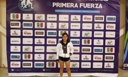 Oro de Figueroa, en Campeonato Nacional de Tenis de Mesa