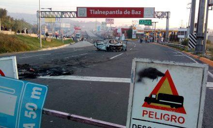 Continúa bloqueo en la México-Pachuca