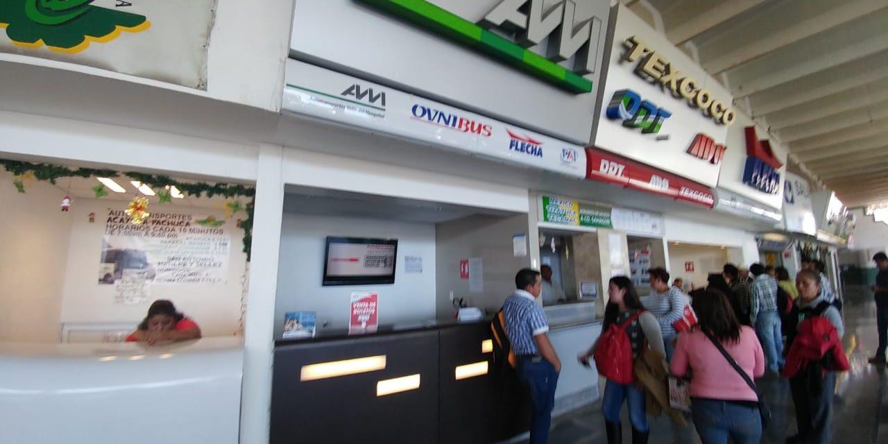 Usuarios piden seguridad en transporte de Pachuca a CDMX