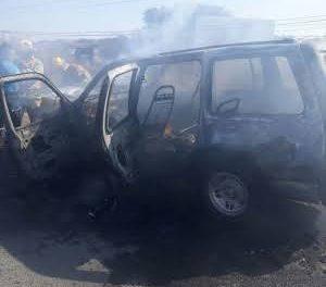 Se incendia vehículo en Metztitlán
