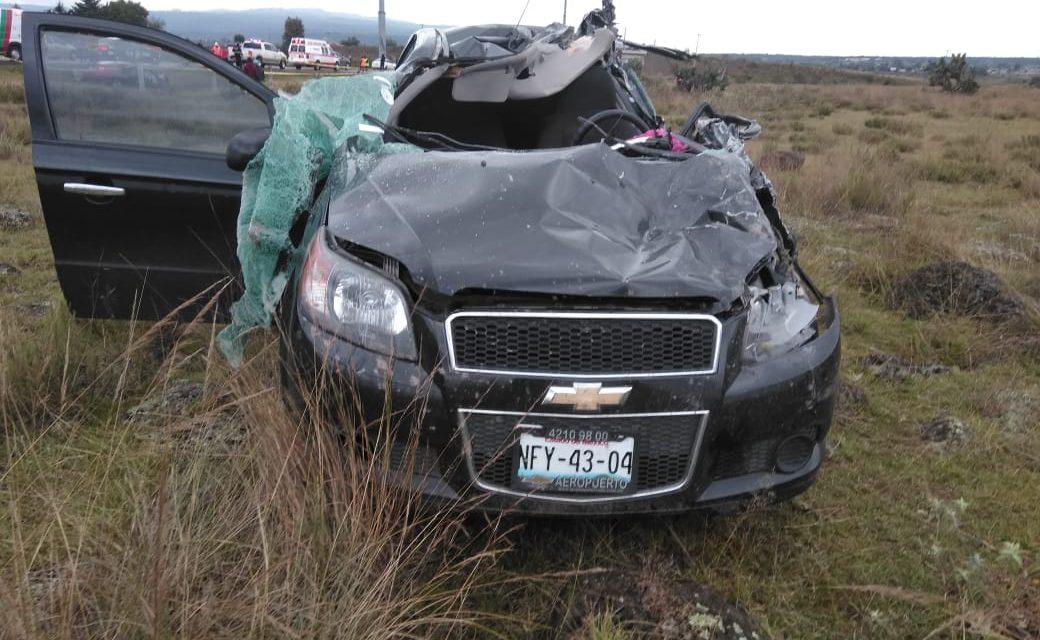 4 muertos en accidente automovilístico en Tulancingo