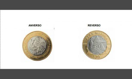Presenta Banco de México nueva moneda de 20 pesos