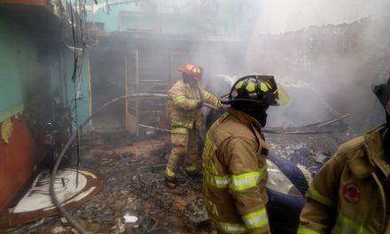 Incendio en casa de Parque de Poblamiento