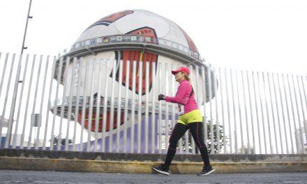 Carnaval de piernas en el Campeonato Nacional de Marcha en Ruta Pachuca 2018