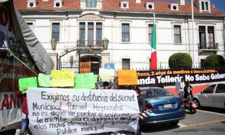 Piden destitución de secretario de Seguridad de Pachuca
