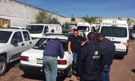 Aseguran vehículos sin concesión que operaban como taxis