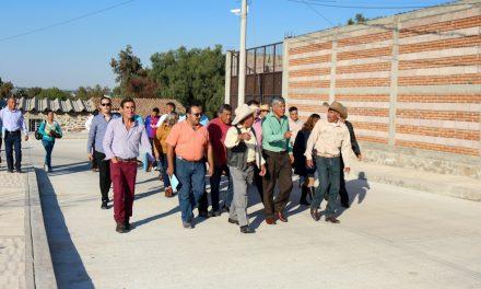 Inauguran calle en la comunidad de La Posta, en Tizayuca