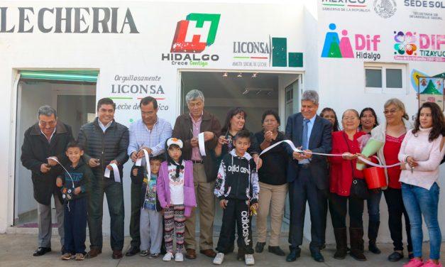 Delegado de LICONSA inaugura lechería en Tizayuca, en último día de funciones
