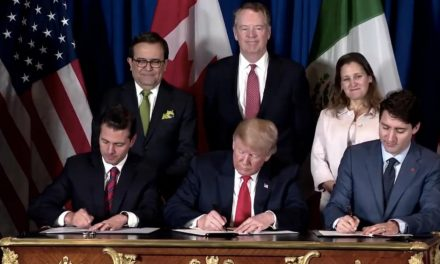 Firman EPN, Trump y Trudeau TMEC en Argentina