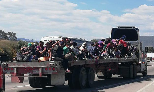 SSPH brinda protección a caravana migrante en su paso por Hidalgo